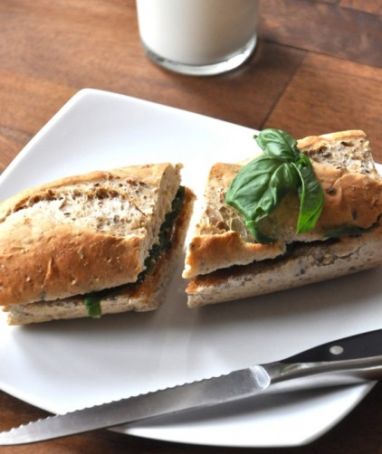 Peanut Butter and Basil Sandwich