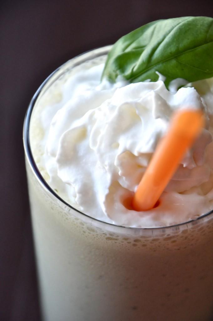 Peanut Butter and Basil Milkshake #minimalistbaker