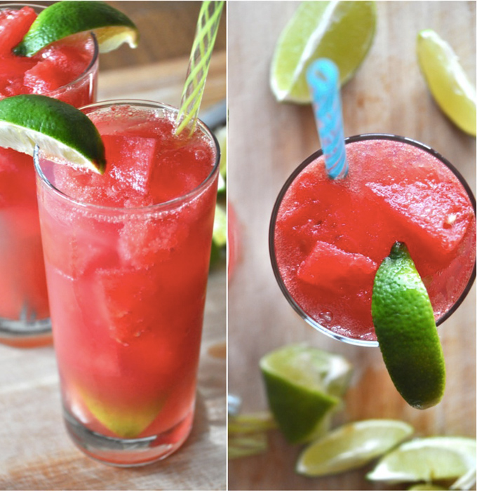 Watermelon Limeade Cocktails