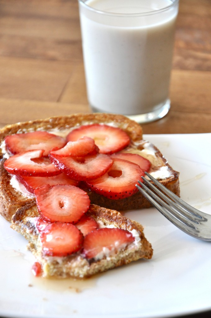 Strawberry Danish French Toast on a plate for a delicious breakfast