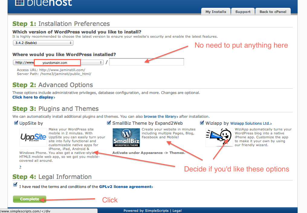 how to setup bluehost 9
