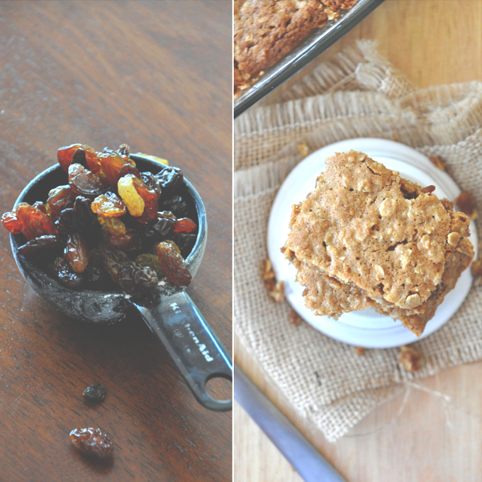 Chai Spiced Oatmeal Raisin Cookie Bars | Minimalist Baker ...