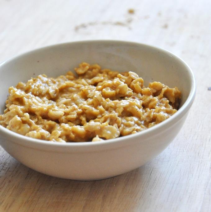 Bowl of Creamy Vegan Pumpkin Oatmeal