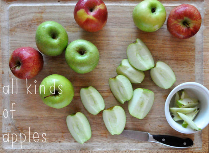 Removing the cores from apples to make homemade Gluten-Free Vegan Apple Crisp