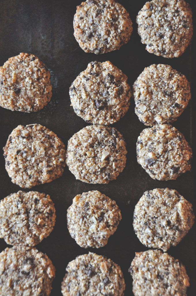 Almond Meal Cookies with Chocolate Chips and Coconut #minimalistbaker