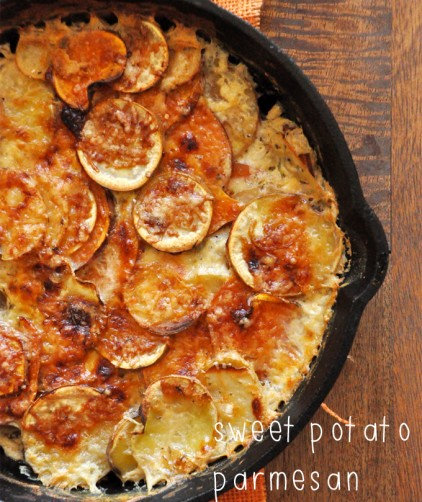 Sweet Potato Parmesan Gratin
