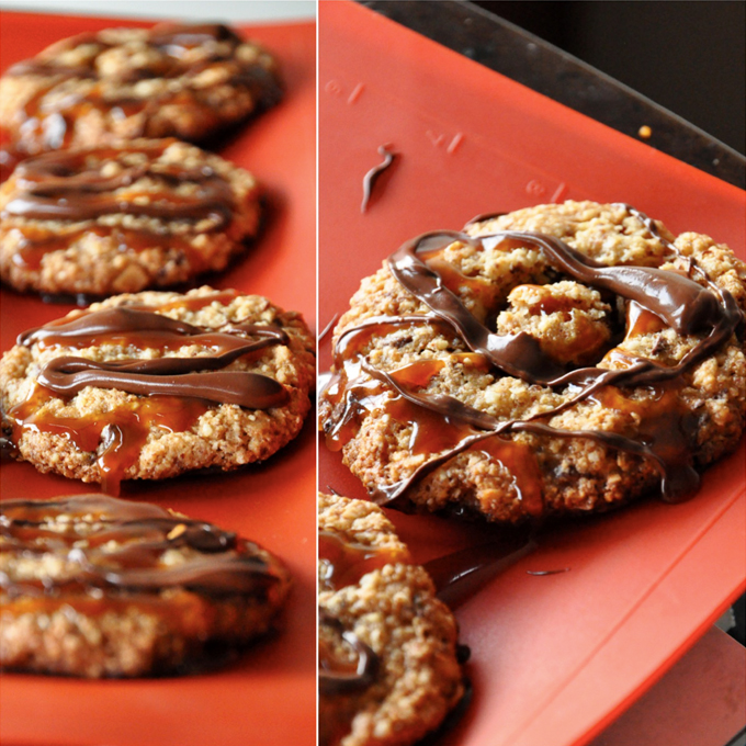 Gluten-Free Bourbon Caramel Samoas for a delicious treat