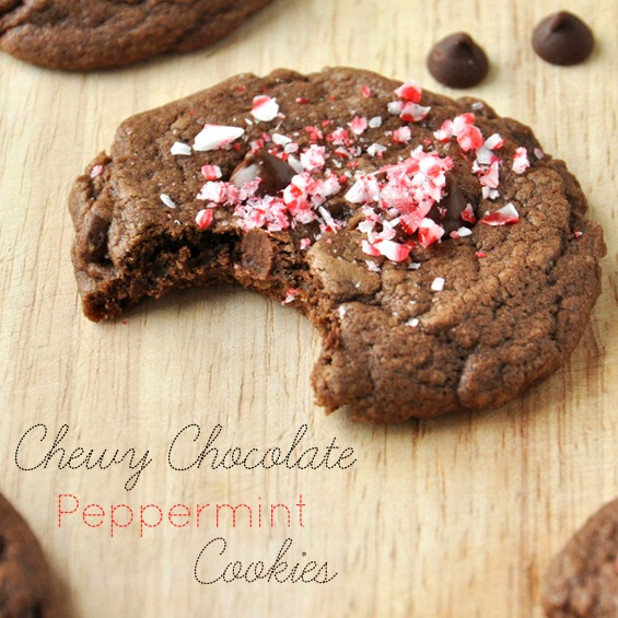 Vegan Chewy Chocolate Peppermint Cookies Recipe