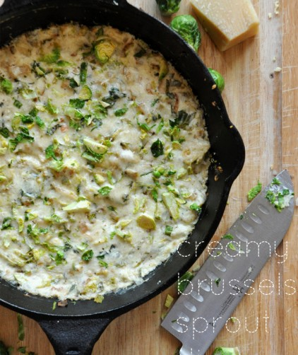 Creamy Brussels Sprout & Shallot Dip