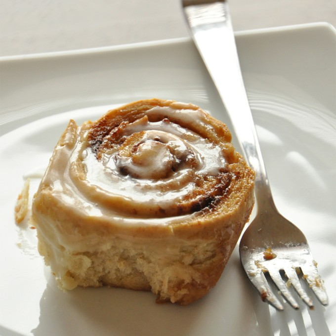 Homemade Cinnamon Roll perfect for a special Christmas morning breakfast