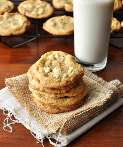 Whole Wheat White Chocolate Cranberry Cookies with Sea Salt