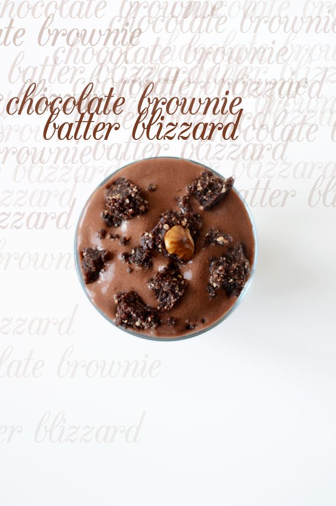 Chocolate Brownie Batter Blizzard   minimalist baker