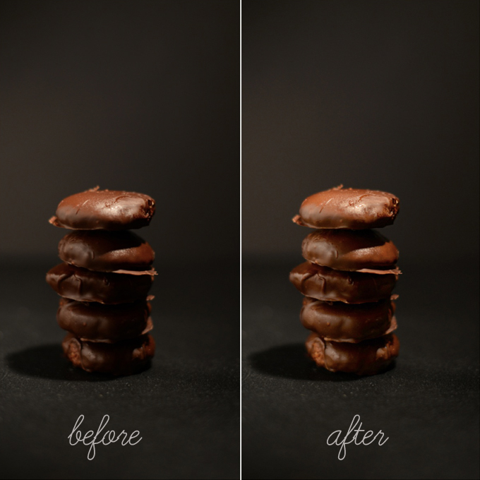 Before and after photos for our post on How to Edit Dark Photos