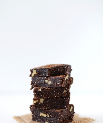 5-Minute Espresso Walnut Brownies