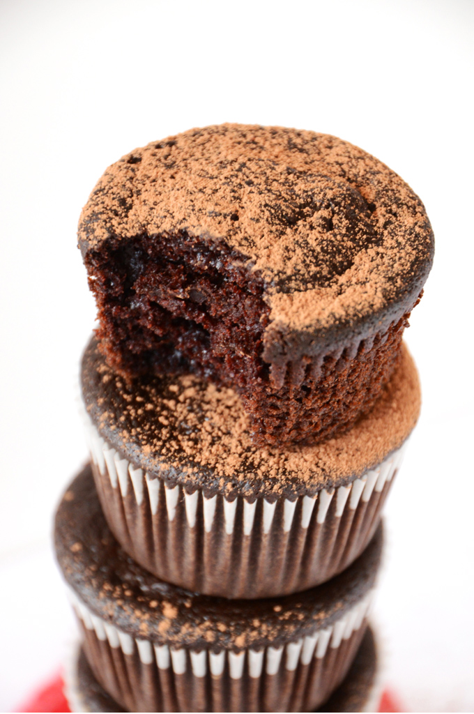 Vegan Beet Fudgy Cupcakes | minimalist baker