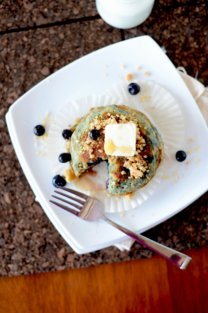 Vegan Blueberry Muffin Pancakes | by Minimalist Baker