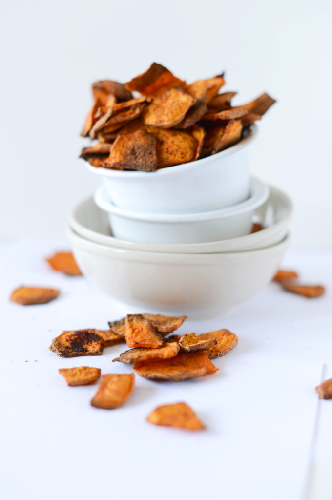 Bowl of our delicious Chipotle Sweet Potato Chips