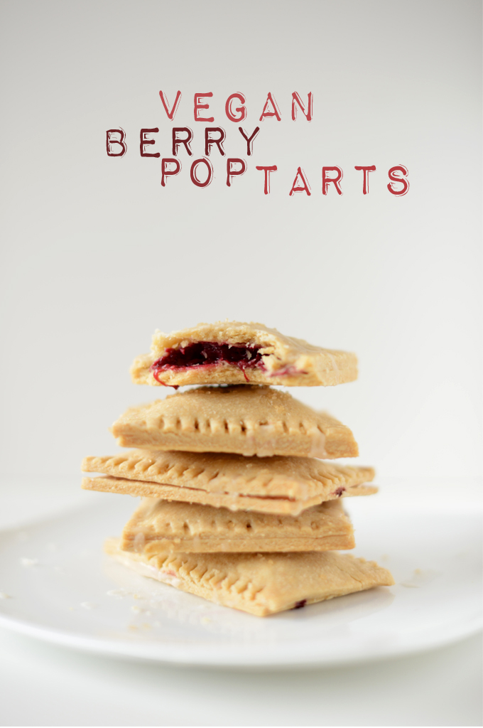 Stack of a batch of our delicious Vegan Berry Pop Tarts recipe