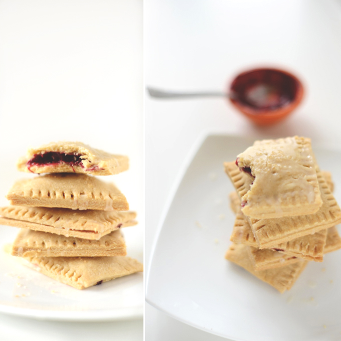 Plate piled high with homemade Vegan Pop Tarts