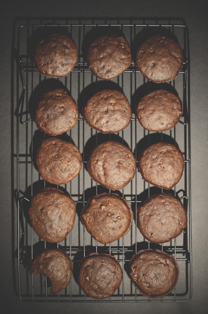 Cooling rack with a batch of our Vegan Chocolate Cake Cookies recipe