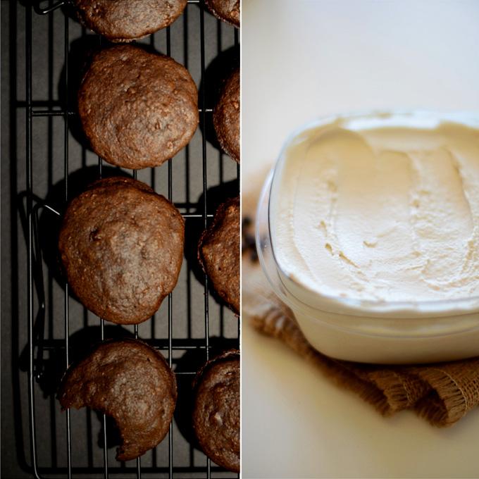 Ingredients for making homemade vegan ice cream sandwiches