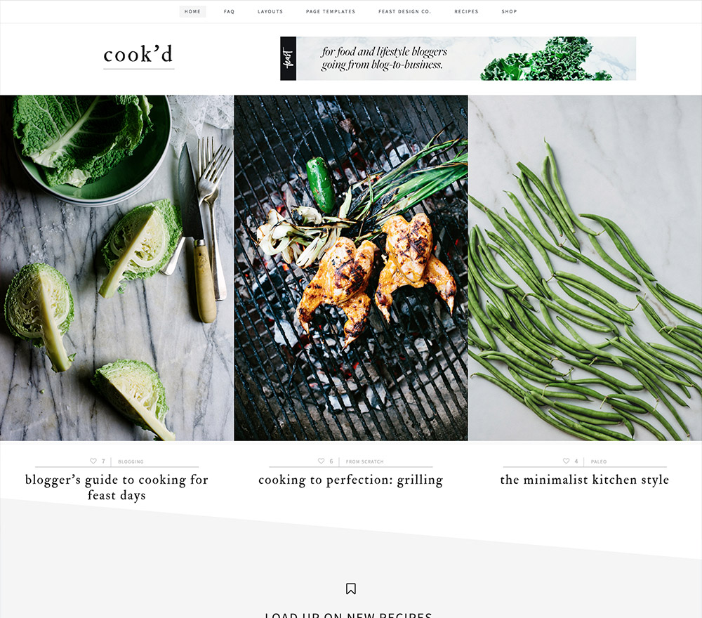 Cookd WordPress Theme for Food Blogs