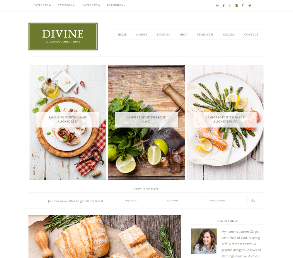 Divine Theme for WordPress Food Bloggers