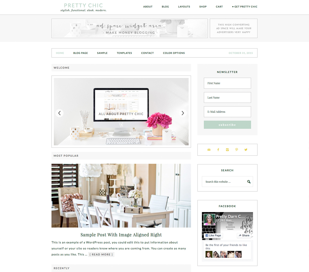 Pretty Chic WordPress Theme