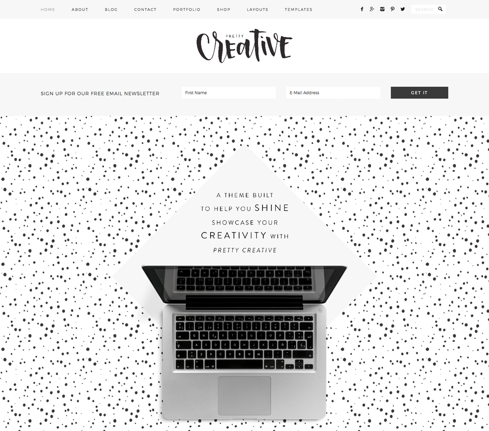 Pretty Creative Theme for WordPress Blogs