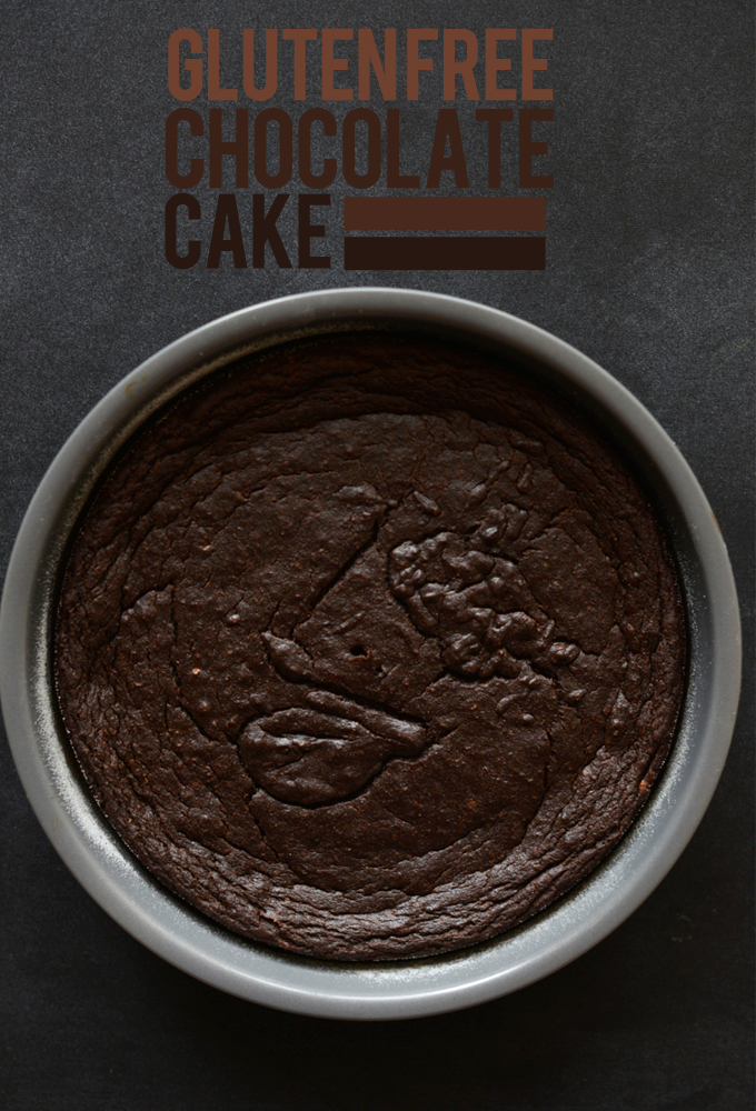 Pan of our Gluten-Free Chocolate Cake recipe
