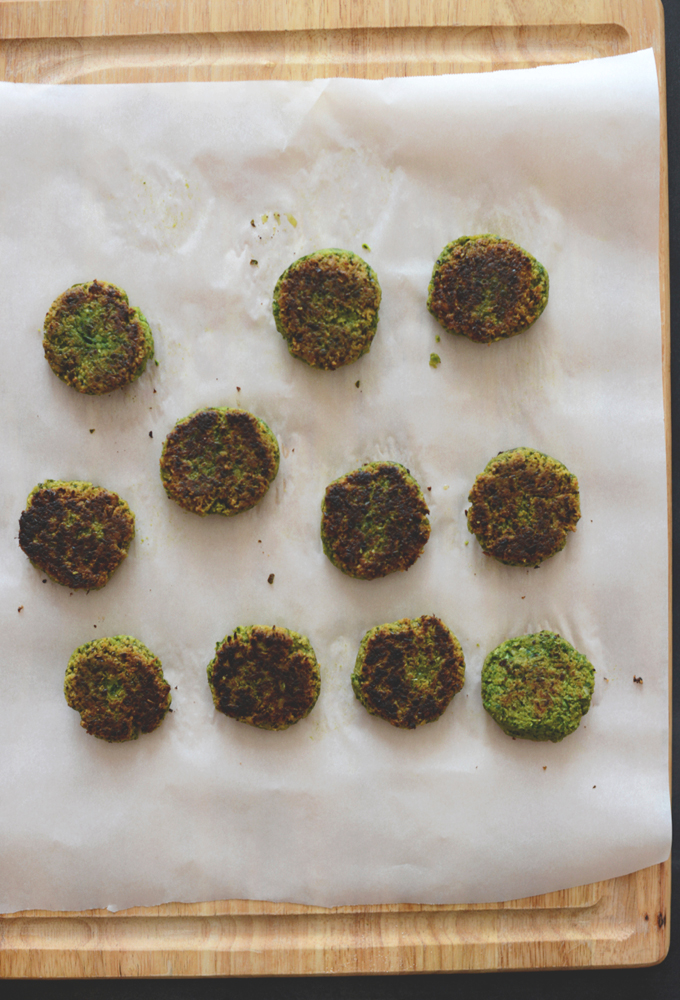 Freshly cooked batch of our healthy falafel recipe