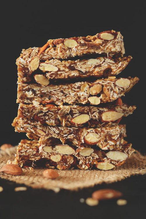 Stack of our simple homemade gluten-free vegan granola bars