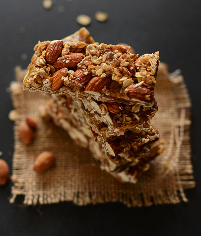 Tall stack of our healthy granola bars