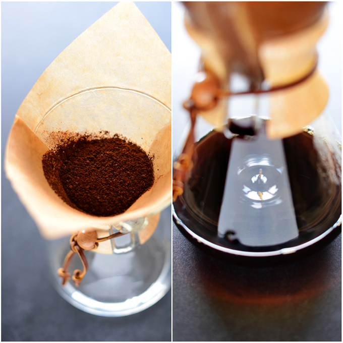 Using a Chemex Coffee Maker to brew coffee