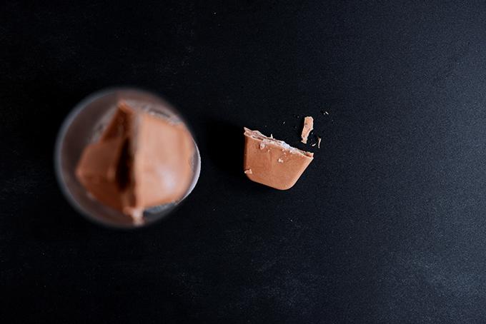Chocolate Coconut Milk Ice Cubes