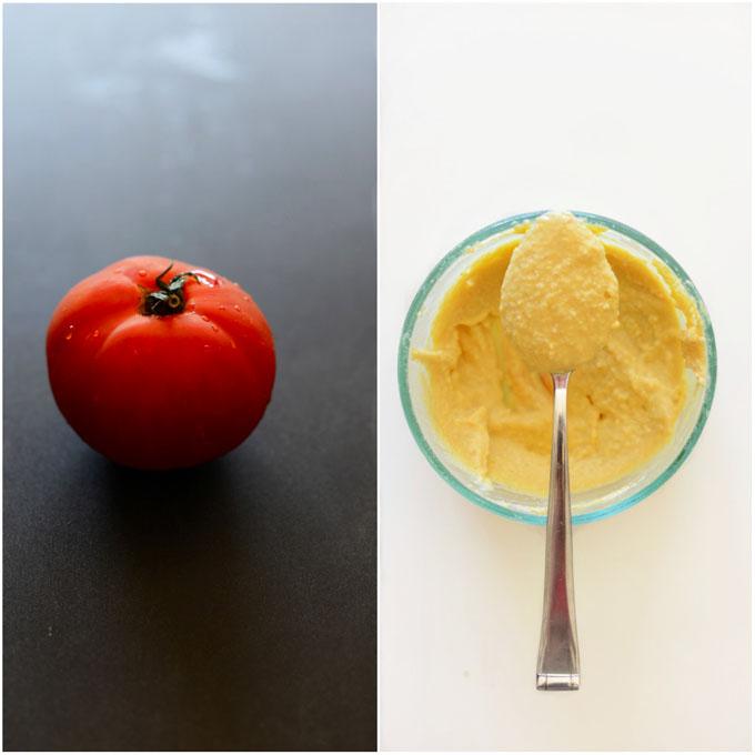Hummus and Tomato #minimalistbaker