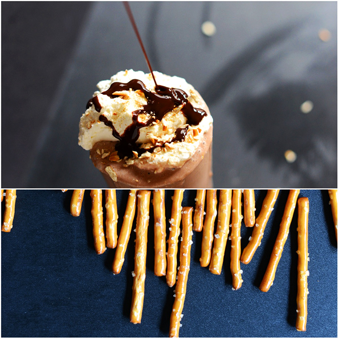 Pretzel Frozen Hot Chocolate!
