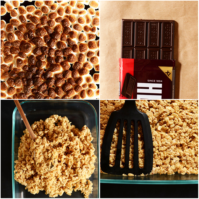 Ingredients for making Smores Rice Krispie Treats