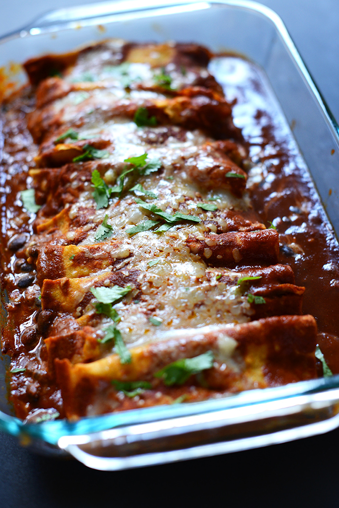 Spicy Black Bean Enchiladas #minimalistbaker