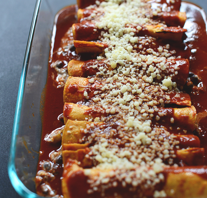 Spicy Black Bean And Cheese Enchiladas Minimalistbaker Com Minimalistbaker
