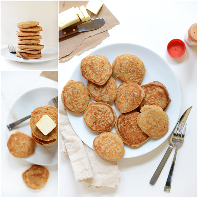 Plates of delicious Mini Sopapilla Pancakes
