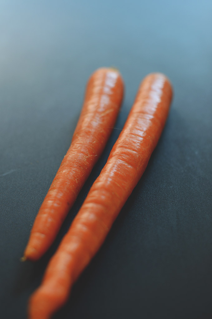 Fresh carrots for making healthy Carrot Coconut Pancakes