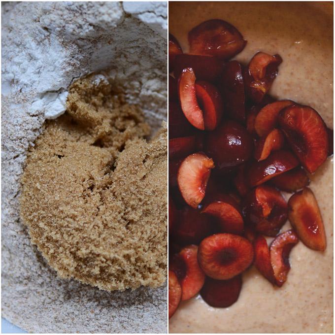 Bowls of Vegan Cherry Muffin batter