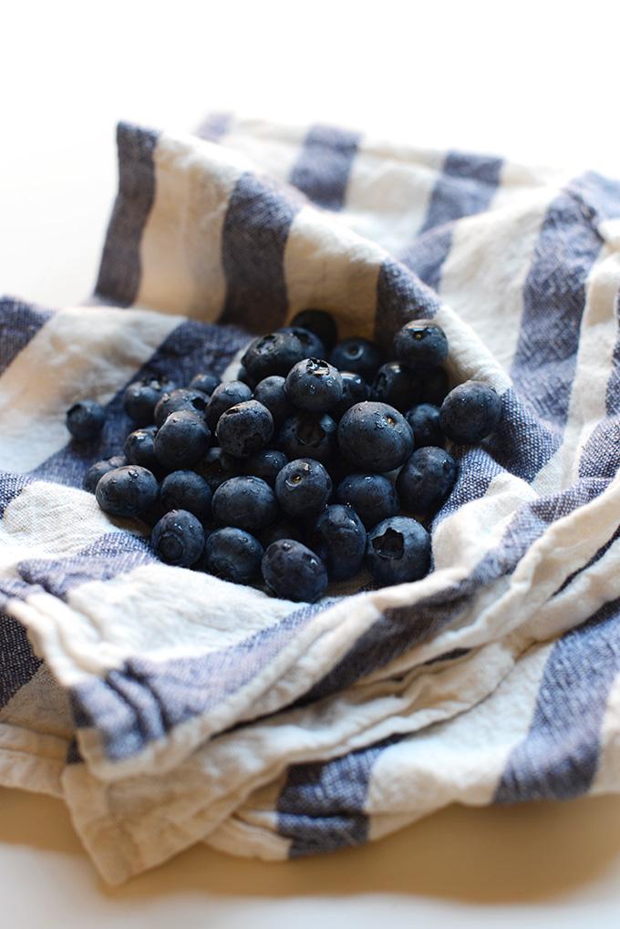 Fresh blueberries for making homemade Blueberry Popsicles