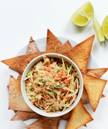 Bowl of our Thai Slaw recipe made with Creamy Asian Dressing