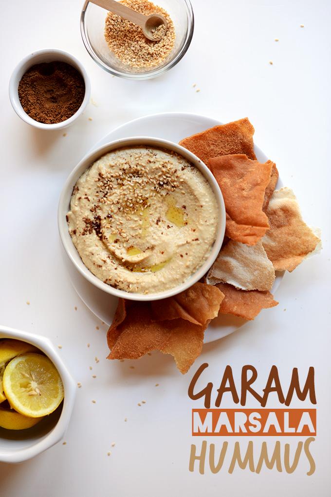 Garam Marsala Hummus | via minimalistbaker.com
