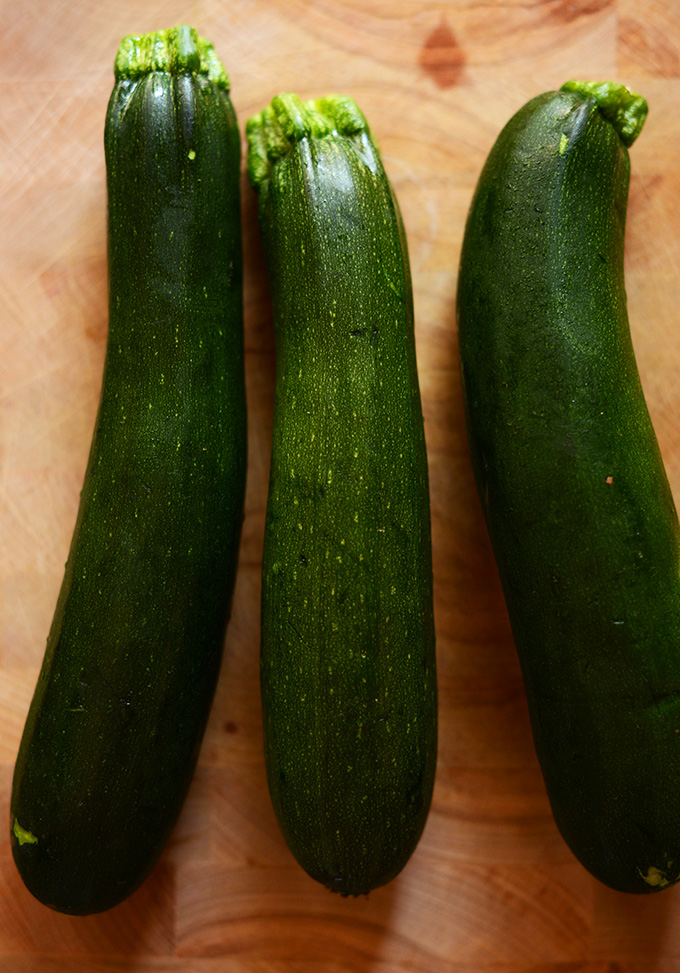 Fresh zucchinis for making homemade Gluten-Free Zucchini Cake