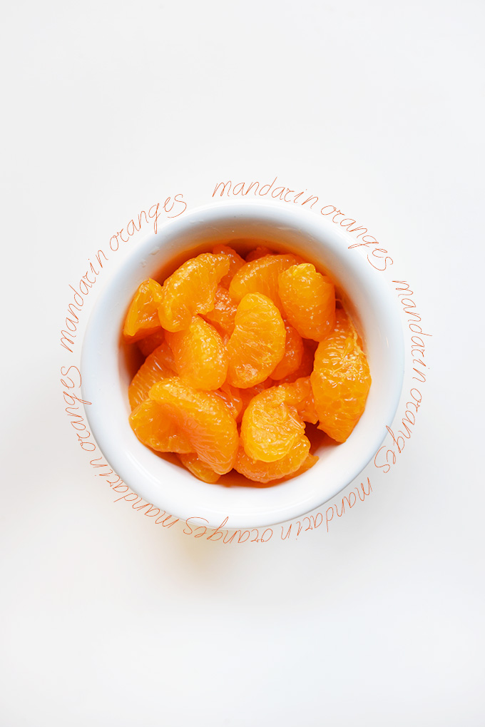Bowl of mandarin oranges for adding to homemade fruit popsicles