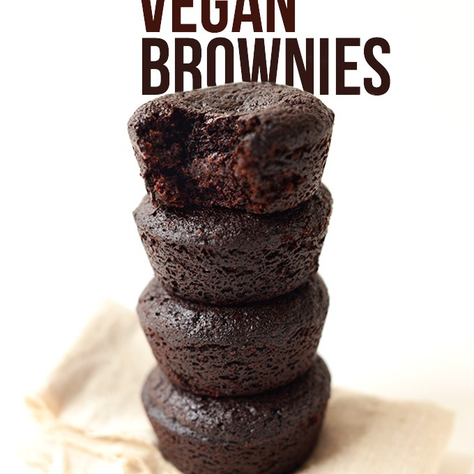 Vegan Brownies stacked tall for a delicious treat