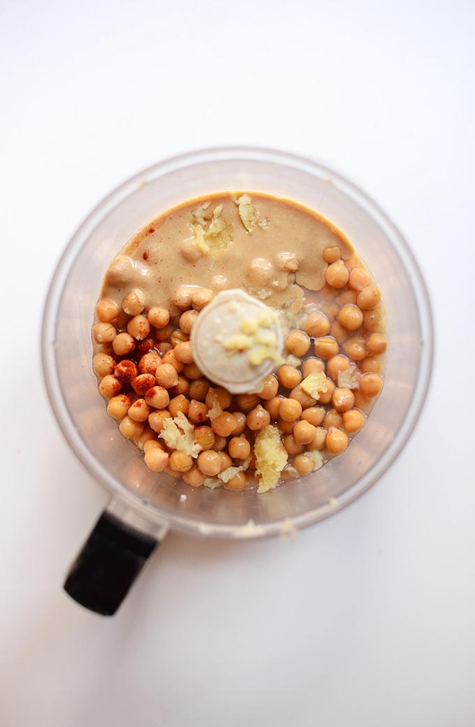 Spicy Indian Hummus | minimalistbaker.com